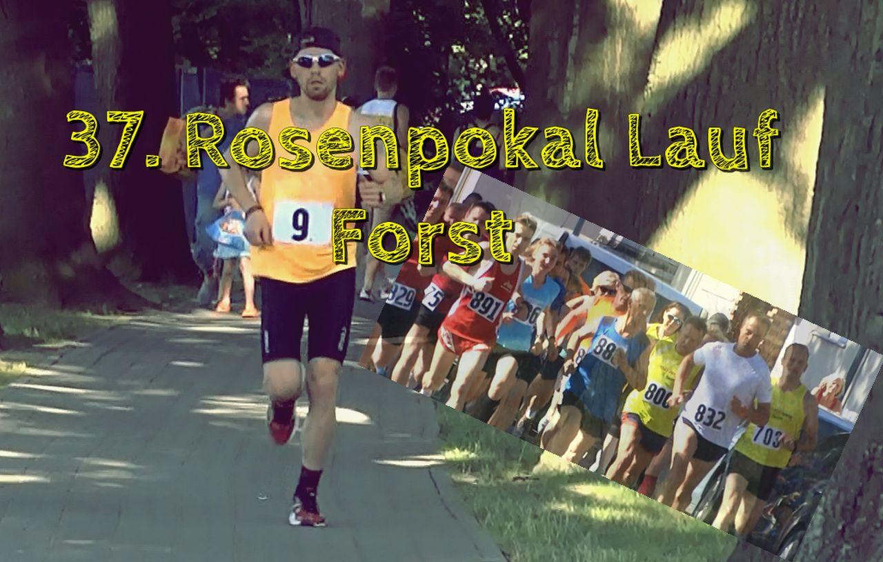 Hier sehen Sie Sören Lehmann während des Laufens beim Rosenpokallauf 2015