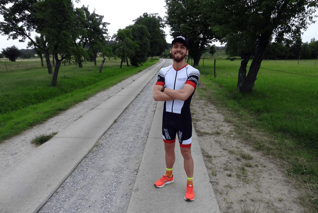 Sören als Teammitglied des 21run.com Triathlon Teams