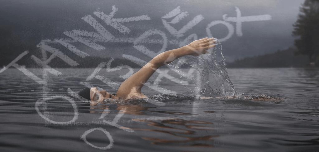 Ein Schwimmer im See