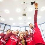 das ganze Gran Fondo Team Alpecin 2017 beim Gruppenselfie