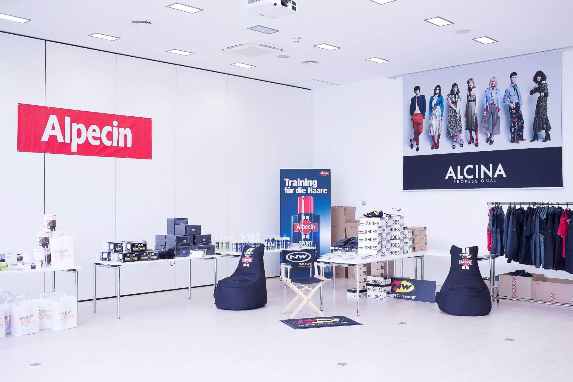 Ein Teil der Alpecin Teamausrüstung 2017