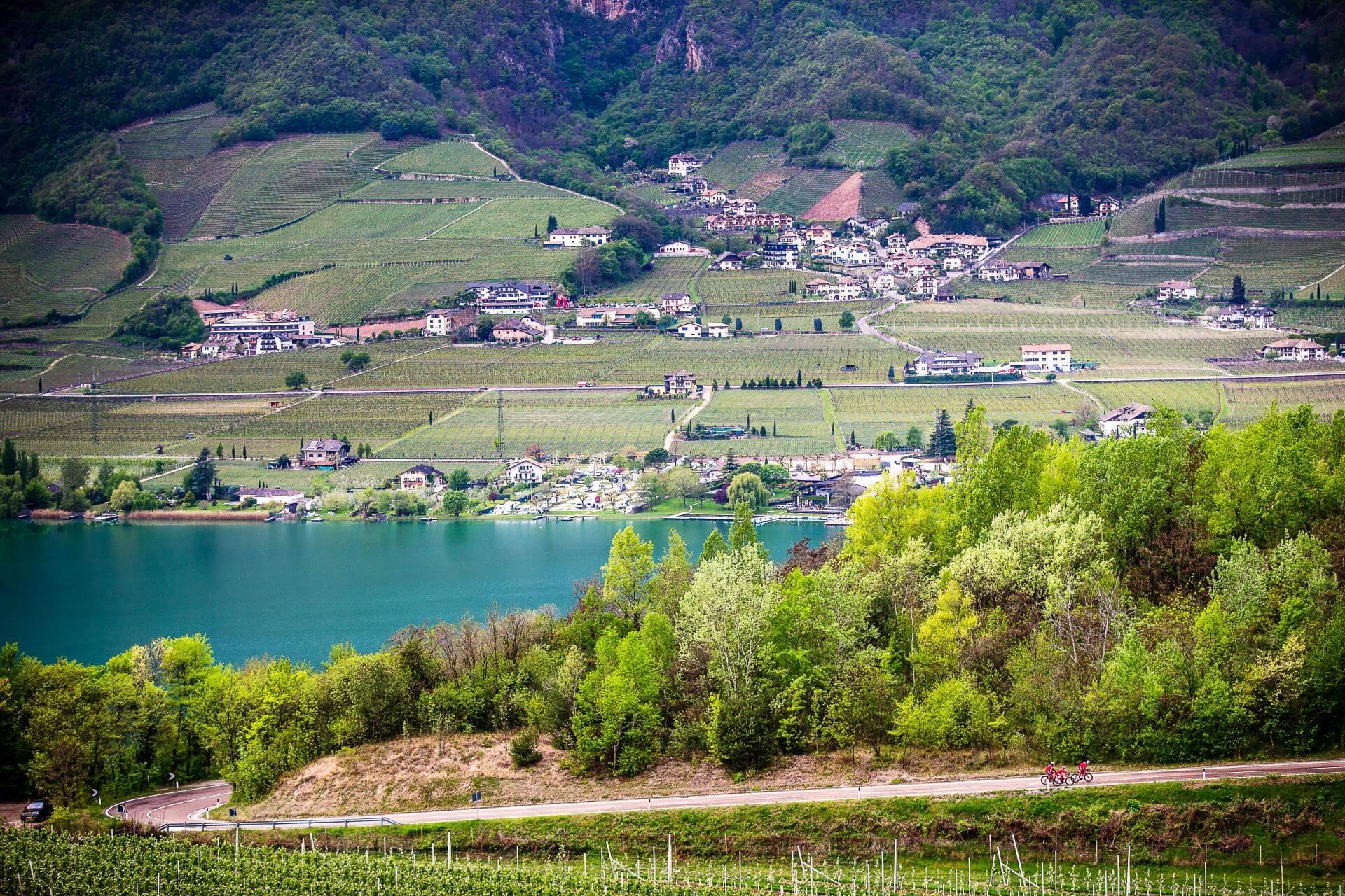 schönes Gegend um Kaltern in Südtirol